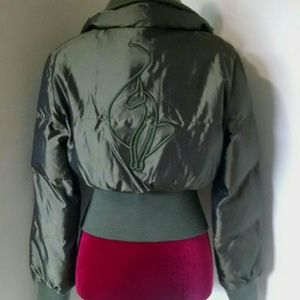 Baby Phat army green puffer jacket